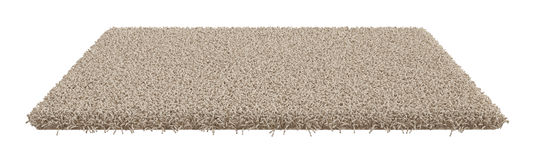 Rectangle carpet  on white background Royalty Free Stock Images