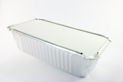 Rectangle Catering Tray. One rectangle catering tray on a white background Royalty Free Stock Photos