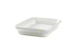 Rectangle ceramic cook and serve dish Stock Photos