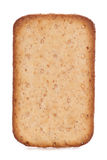 Rectangle cheese biscuit. Studio cutout Stock Photos