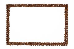 Rectangle  coffee frame. Stock Photography