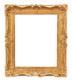 Rectangle decorative golden picture frame Royalty Free Stock Photography