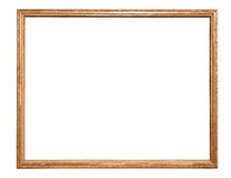 Rectangle decorative golden picture frame Royalty Free Stock Images