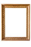 Rectangle decorative golden picture frame Stock Photos
