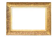 Rectangle decorative golden picture frame Stock Photography