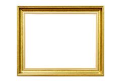 Rectangle decorative golden picture frame Stock Images
