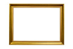 Rectangle decorative golden picture frame Royalty Free Stock Image