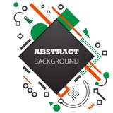 Rectangle et cercles d'Asbtraction sur un cadre blanc de fond illustration de vecteur