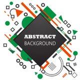 Rectangle et cercles d'Asbtraction sur un cadre blanc de fond illustration libre de droits