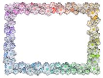 Rectangle Floral Frame Stock Photography