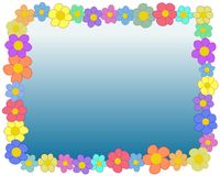 Rectangle flower frame Royalty Free Stock Photo