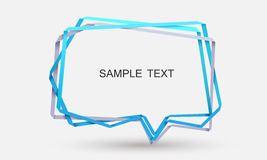 Rectangle frame. Staked rectangle talk bubble vector illustration Royalty Free Stock Photography