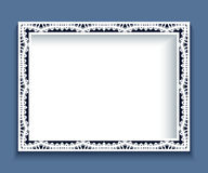 Rectangle frame with lace border Stock Photos
