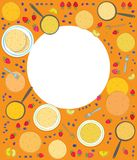 Pancakes rectangle frame vector illustration Stock Photography