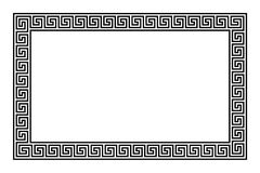 Rectangle frame with seamless meander pattern. Meandros, a decorative border, constructed from continuous lines, shaped into a repeated motif. Greek fret or vector illustration