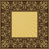Rectangle gold frame Royalty Free Stock Photo