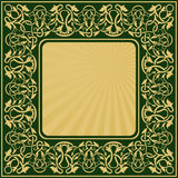 Rectangle gold frame Royalty Free Stock Image