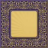 Rectangle gold frame Royalty Free Stock Images
