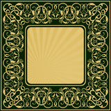 Rectangle gold frame Stock Photography