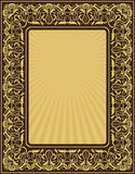 Rectangle gold frame stock illustration
