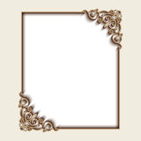 Rectangle gold jewelry frame Stock Photography