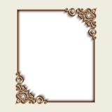 Rectangle gold jewelry frame Stock Images