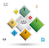 Rectangle group options template with icons Stock Photography