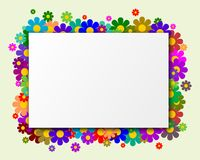 Rectangle with hearts as a background. Blank Rectangle with hearts as a background Stock Image