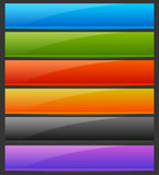 Rectangle horizontal bright, colorful button, banner backgrounds Royalty Free Stock Image