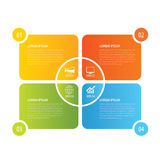 4 rectangle infographic design template. Vector can be used for Stock Photos