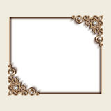Rectangle jewelry gold frame Royalty Free Stock Photography