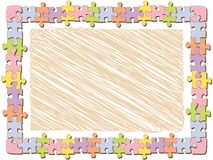 Rectangle jigsaw frame with dots Royalty Free Stock Image