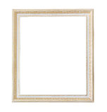 Rectangle light wooden frame. Gold museum frame Stock Images