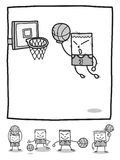 Rectangle man basketball players stock photo