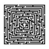 Rectangle maze izolated on white royalty free stock photography