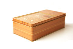 Rectangle metal box. With lines that look like wood Royalty Free Stock Image