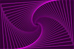 Rectangle optical illusion pattern. Rotating concentric rectangle - violet, Square optical illusion pattern - purple, Geometric abstract background Stock Photography