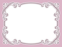 Rectangle paper frame, greeting card template Stock Image
