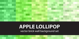 Rectangle pattern set Apple Lollipop Stock Photo