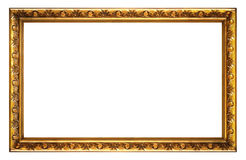 Rectangle Picture Frame. Isolated on White Royalty Free Stock Photography