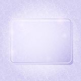 Rectangle Piece of Glass Framework. Light Purple Rectangle Piece of Glass Framework on Abstract Swirl Pattern. Advertising Brochure with Place for Text. Vector stock illustration