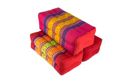 Rectangle pillow like Thai style, white background Royalty Free Stock Images