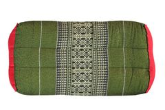 Rectangle pillow Thai style Old thai pillow isolated on white background stock photos