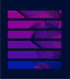 Rectangle pourpré avec des lignes image libre de droits