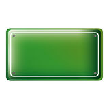 Rectangle of road sign green Royalty Free Stock Image