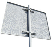 Rectangle road sign. Rear view. Isolated Royalty Free Stock Photo