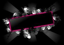 Rectangle rose et noir Photographie stock libre de droits