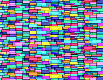 Rectangle´s wall. Wall of transparent rectangles bricks experimental art Stock Illustration