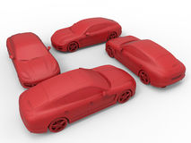 Rectangle shape parked cars Stock Images