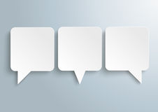 3 Rectangle Speech Balloons Royalty Free Stock Image